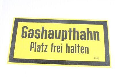 Hinweisschild Schild Gashaupthahn Platz Frei Halten Gelb 14,7cm X 29,7cm