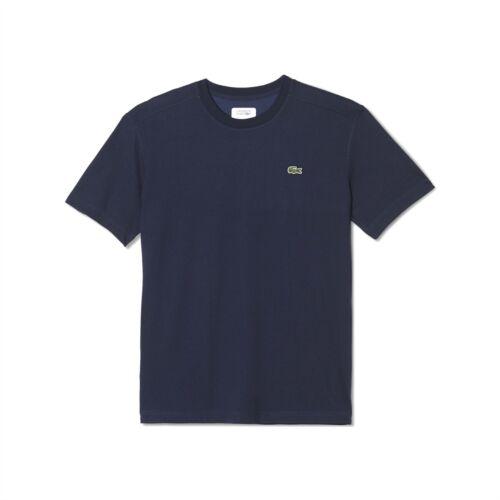 Lacoste Mens Short Sleeve Sport Crew Neck T-Shirt Navy TH7618-00-166