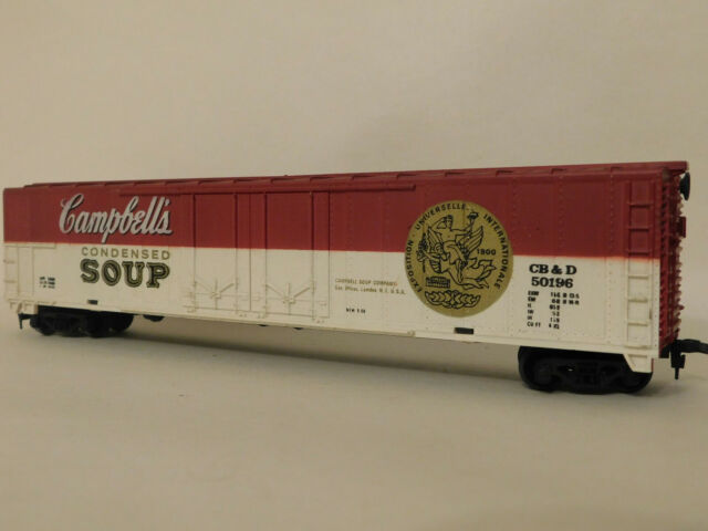 Campbells Used Cars >> Tyco Campbell S Soup 62 Box Car Long Out Of Production Ho Train Mint