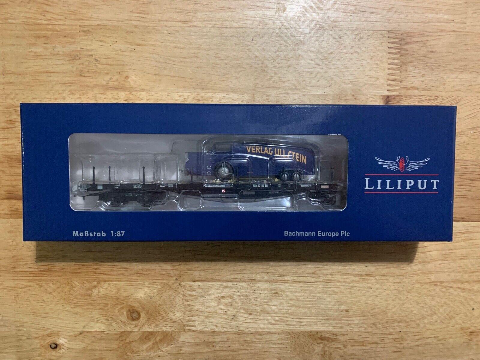 Liliput L235750 Flat Wagon with Brakeuomo's CabRumpler DR Epoch 2