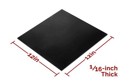 """Rubber Sheet Neoprene Black Heavy Duty 12x12-Inch by 1//16/"""" High Grade 60A"""