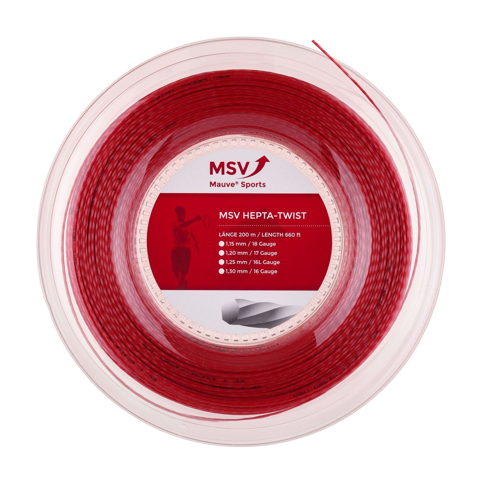 MSV Hepta Twist ( 200m Rolle ) rot 1,25 1,25 1,25 mm (0,35 EUR m) 7cee01
