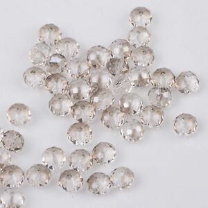 New Plated gray Faceted 100pcs Rondelle exquisite crystal 3x2mm Beads!