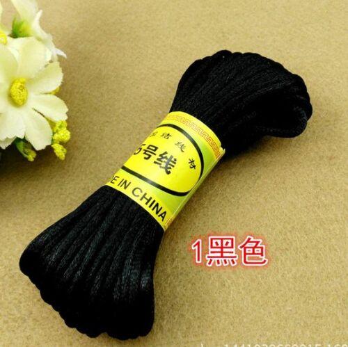 NEW 20M Chinesisches Knoten Satin Nylon umsponnenes Schnur Macrame wulstige 2mm