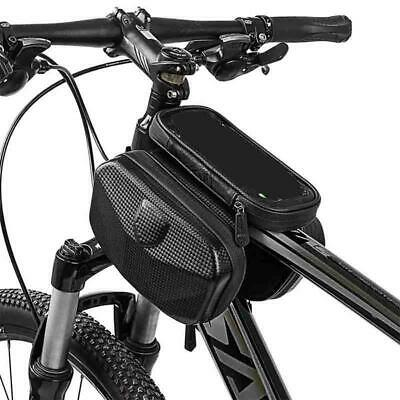 Cycling Bicycle Bike Front Pannier Double Pouch Saddle Tube Bag phone Holder