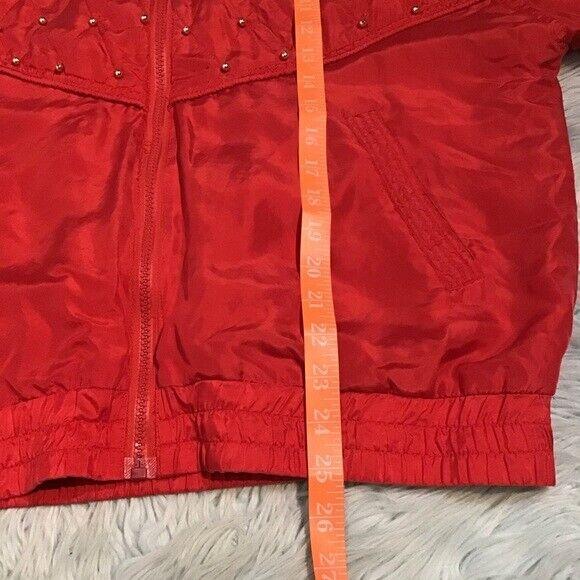 Vintage Bogari Silk Red Bomber Jacket With Beads - image 9