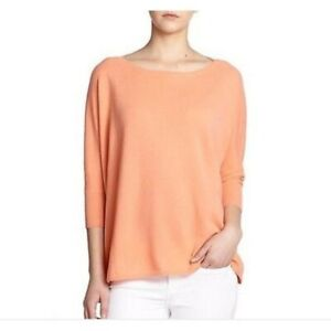 Details about Brand New! Women's Vince 100% Cashmere Orange Sweater Size XS