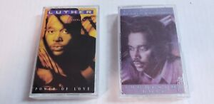 Luther-Vandross-Lot-of-2-Cassette-Tapes-Power-of-Love-amp-The-Best-of-Luther-R-amp-B
