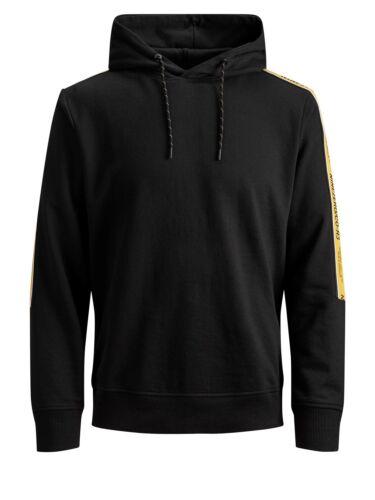 Jack /& Jones Core Sweat à capuche jcovision Homme Logo à la manche bande stripe sweater pull