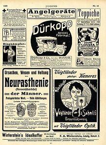 Details Zu Automobilie Dürkopp Co Agbielefeld Voigtländer Optik Ua 1906