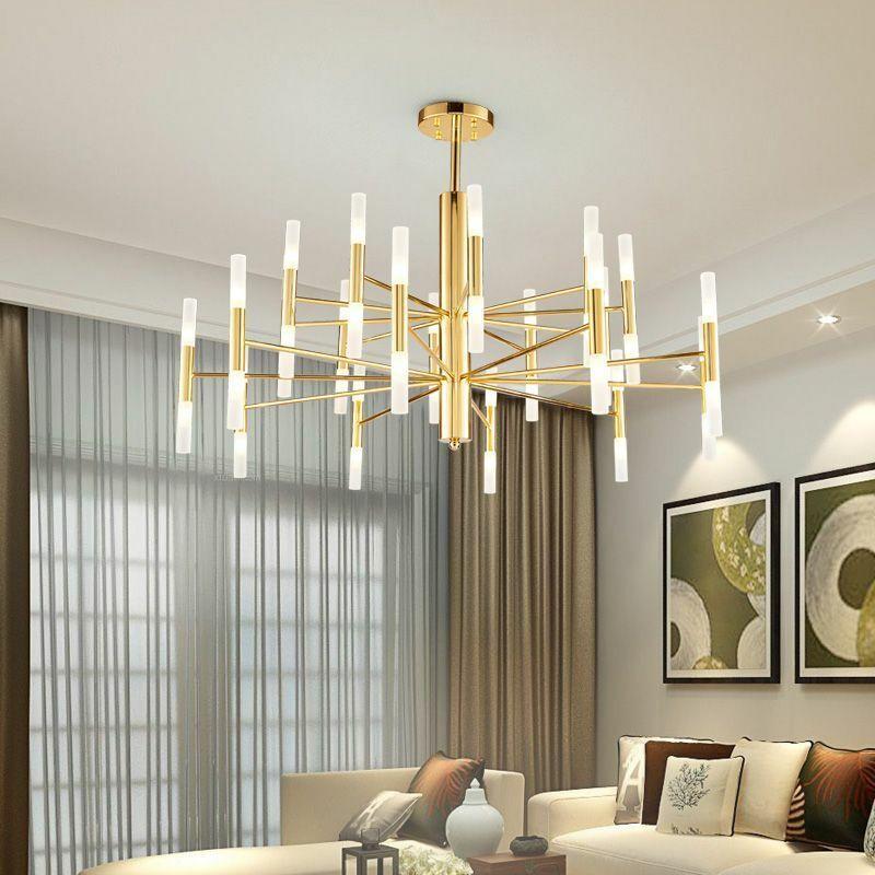 Led Chandelier Lights Home Living Room Ceiling Lamp Elegant Modern Stylish Decor