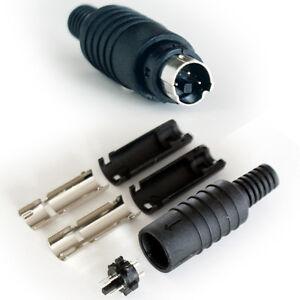 3 Pin Mini Din Male Solder Connector Audio Video