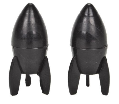 Trick Tops VALVE CAPS Presta Rockets Noir