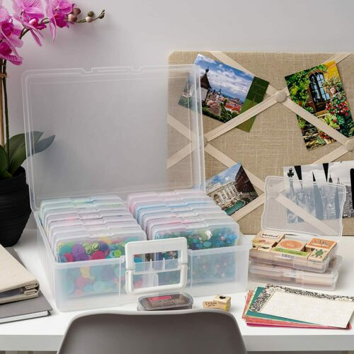 """Photo /& Craft Keeper 4/""""x6/"""" Photo Storage Box with 16 Inner Photo Keeper Cases"""