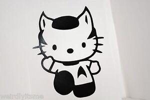 Hello-Kitty-Spock-Vinyl-Car-Bumper-Laptop-iPad-Tablet-Decal-Sticker-Star-Trek