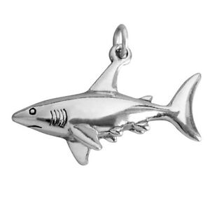 Carrier Bead Scuba Diver With Shark 925 Sterling Silver Dangle Charm