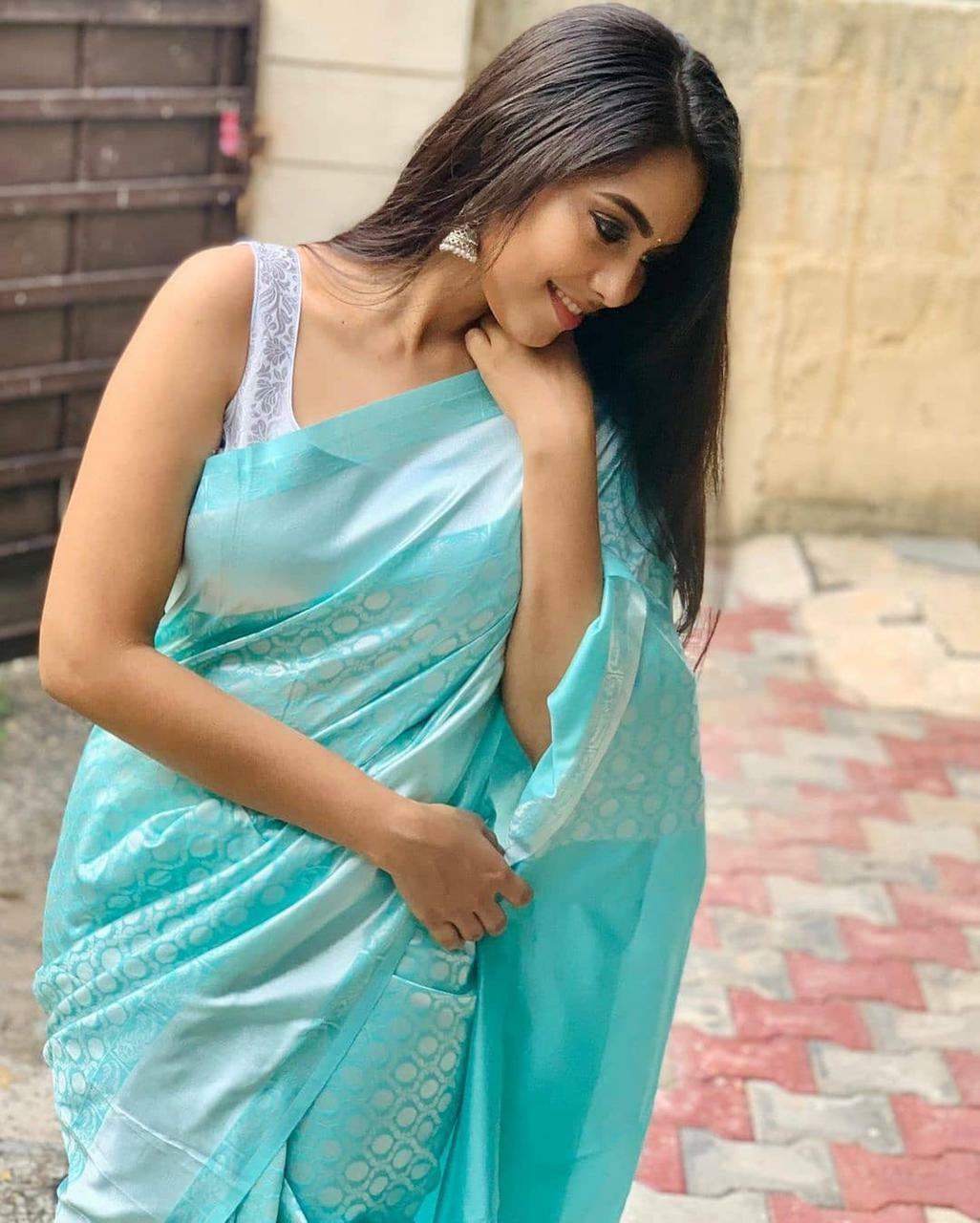 Bollywood Pakistani Designer cotton Silk Sari Asian Wedding Party Soft SIlk Sari