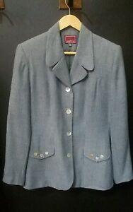 VESTINO-Damenjacke-Blazer-Jacket-Gr-38-hell-blau-Top-Zustand-und-Qualitaet