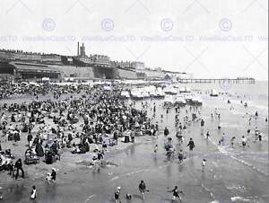 RAMSGATE-SANDS-ENGLAND-VINTAGE-HISTORY-OLD-BW-PHOTO-PRINT-POSTER-ART-1633BW