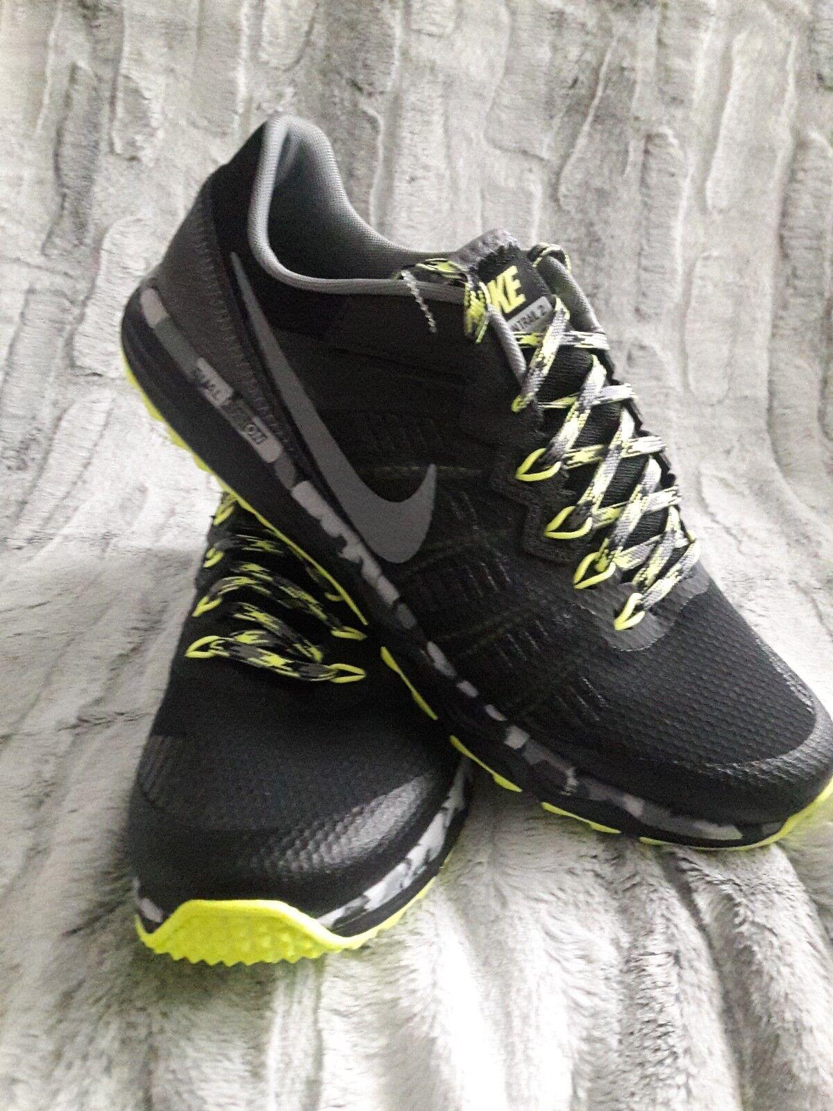nike double fusion trail 2 hommes est est hommes Basket s / chaussures taille 11 noir / volt Vert  nouveau 974d5a