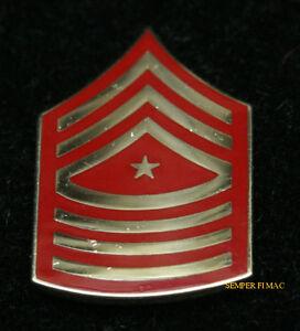 591f6046040 SERGEANT MAJOR SGTMAJ E-9 CHEVRON LAPEL HAT PIN UP US MARINES ...