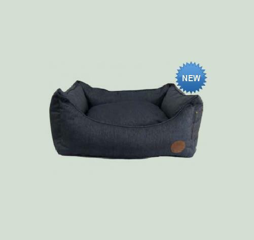 Snug and Cosy Pet Dog Cushion Bed 70CM X 30CM X 55CM, Blau Denim