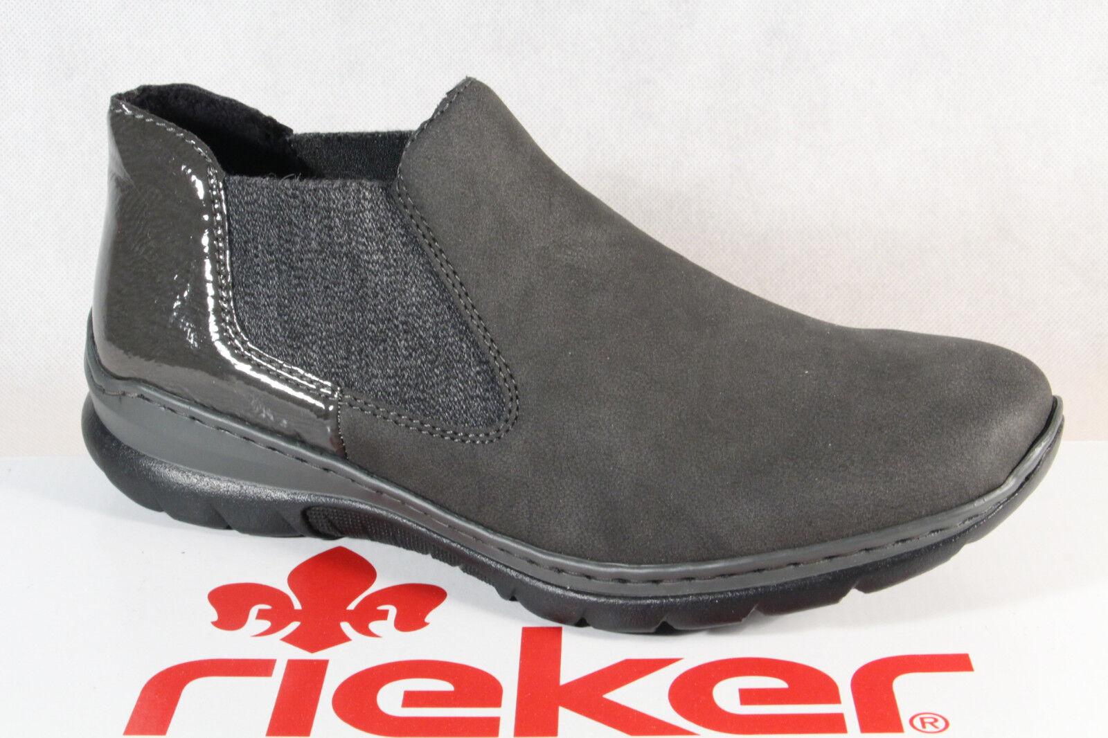 Rieker Mocasines Botines Zapatos Memosoft gris gris gris L32H0 Nuevo  Tu satisfacción es nuestro objetivo