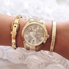 Original Michael Kors Uhr Damenuhr MK5959 Layton Crystal  Farbe:Gold NEU!