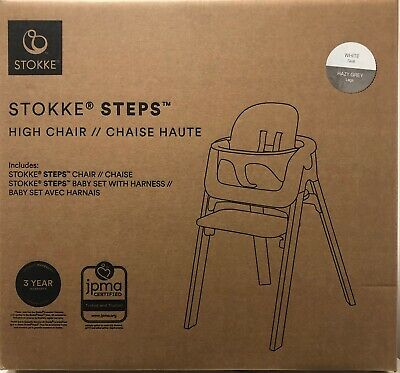 WHITE or BLACK Stokke 5-Point Harness Adjustable Baby Set For Steps HIgh Chair