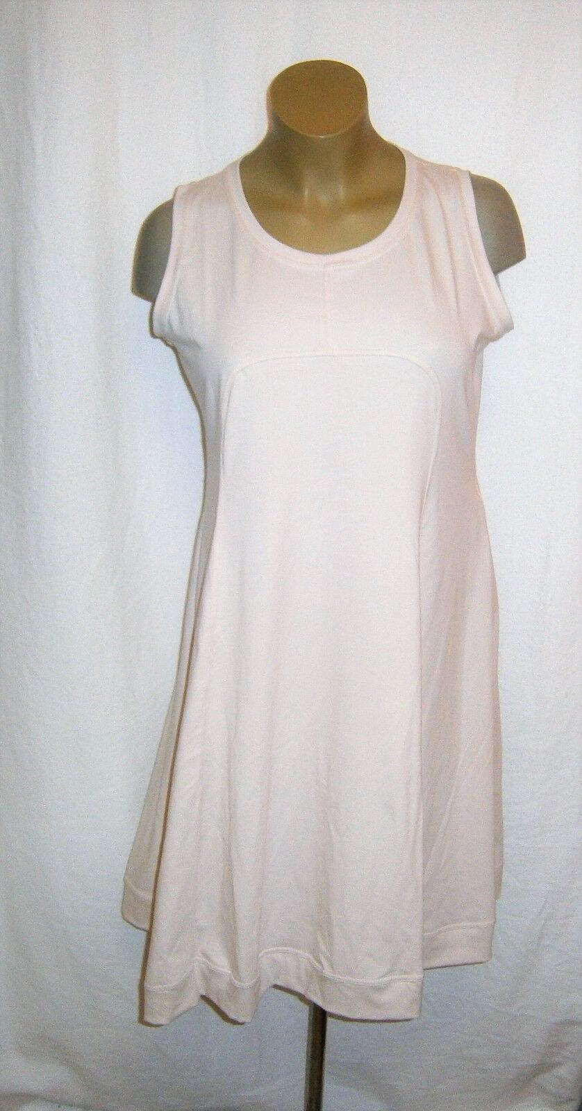 BORIS INDUSTRIES entzückendes Lagenlook Träger Kleid Empire Stil biskuit Gr. 48