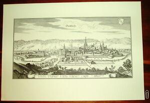 Ansbach-alte-Ansicht-Druck-Merian-Staedteansicht-Stich
