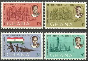 Ghana-4-Jahre-Republik-Satz-postfrisch-1964-Mi-Nr-173-176