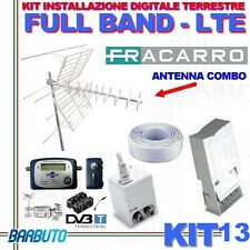 KIT 13 FRACARRO X DIGITALE TERRESTRE FULL BAND FILTRO LTE + PUNTATORE+50MT CAVO