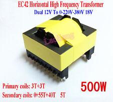 Dual 12V To 0-220V-380V 18V 500W Horizontal High Frequency Transformer Inverters