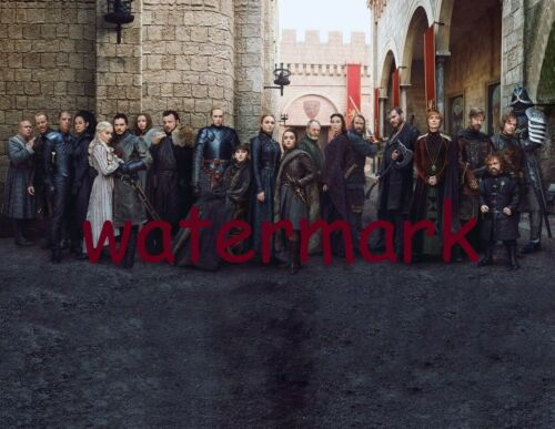 THE LAST GAME OF THRONES FULL CAST EPIC SEASON 8 FIRE AND ICE  PUBLICITY PHOTO