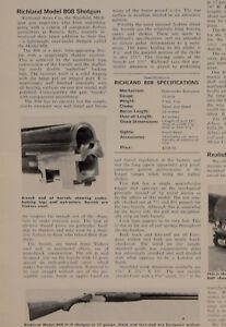 """Article Original """"richland Modèle 808 12-jauge O/u Fusil"""" 1-p Magazine 1966-afficher Le Titre D'origine"""