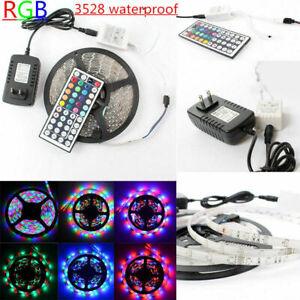 5M-3528-SMD-RGB-LED-luz-de-tira-flexible-Interior-ooutdoor-Control-Remoto-Fuente-De-Alimentacion