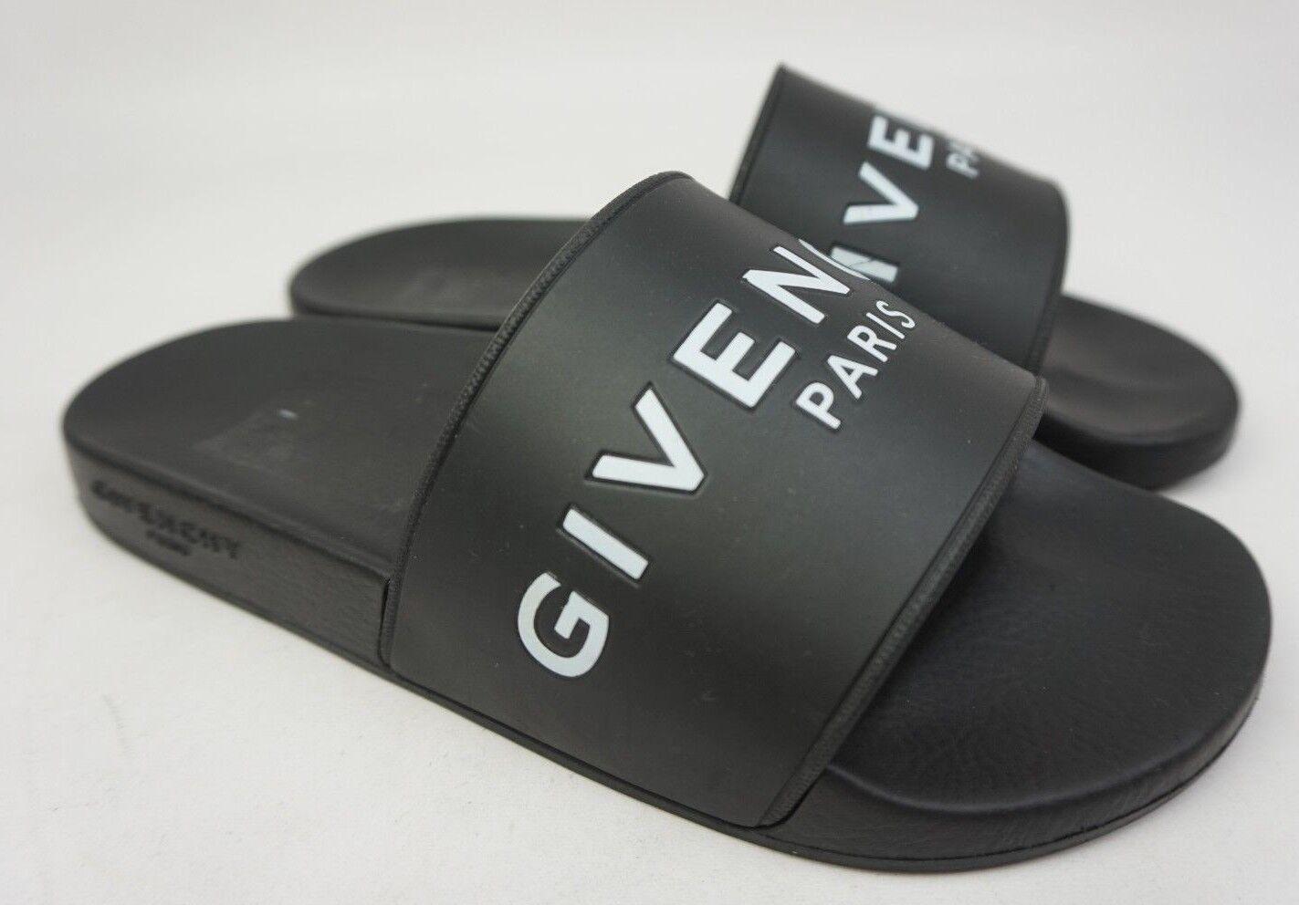 Givenchy Logo Slide Sandals Black Size 39 39 39 EU 594737