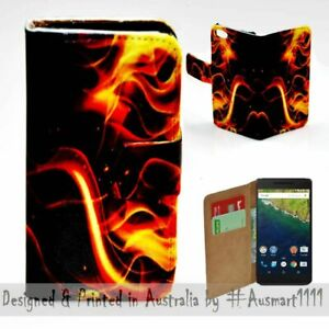 For-Google-Pixel-Series-Fire-Flame-Theme-Print-Wallet-Mobile-Phone-Case-Cover