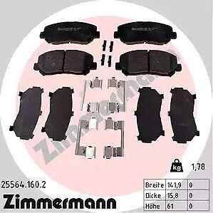 25564-160-2-ZIMMERMANN-Brake-Pad-Set-disc-brake-for-MAZDA