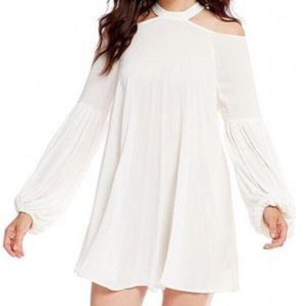 Free People - Drift Away Cold Shoulder Mini Dress Tunic Belt Sleeve OB667900