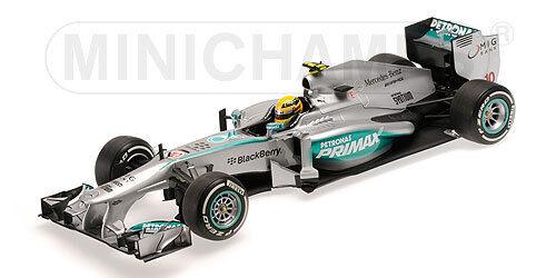 Minichamps 110 130110 110 150044 Mercedes F1 Auto Modelo Lewis Hamilton 1:18 Th