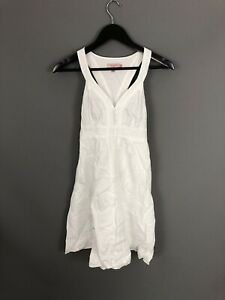 TED-BAKER-SUMMER-Dress-Size-1-UK8-White-Great-Condition-Women-s