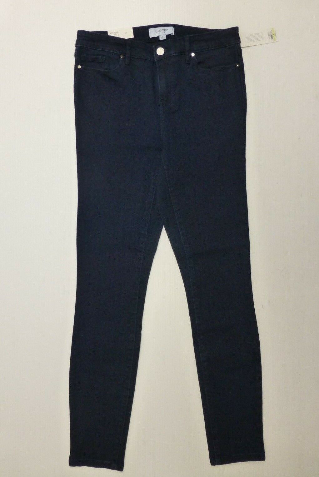 Ellen Tracy Womens Size 4 bluee Refined Mid-Rise Skinny Jeans New With Tags