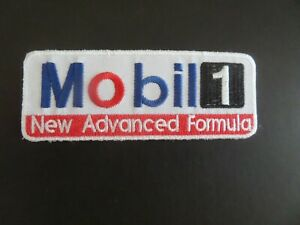"""MOBIL/"""" GAS /& OIL RED  /& BLUE /&WHITE EMBROIDERED IRON ON PATCHES 2-1//8 X 3-5//8"""