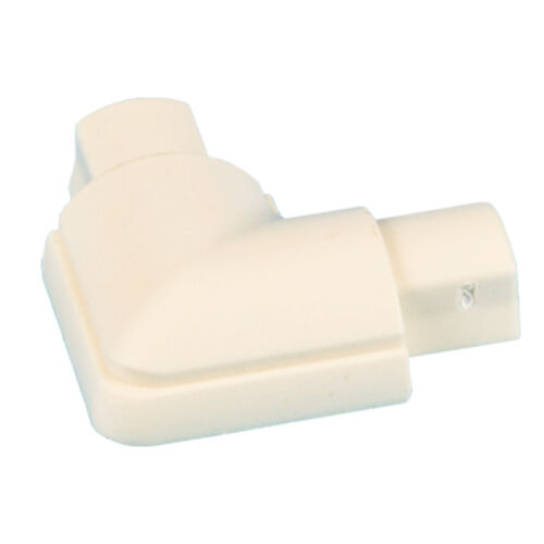 16 mm x 8 mm Blanc Lisse-Fit Angle Droit Trunking Adaptateur chasse 90 Degré Coude