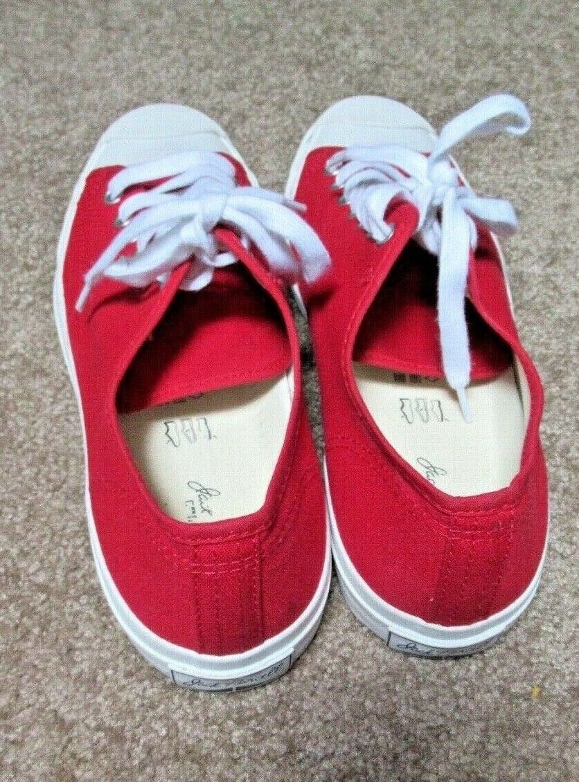 ~~VINTAGE 90's Dead Stock Red Canvas JACK PURCELL… - image 3