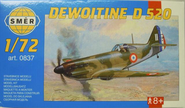 Dewoitine D-520, 1:72, Smer, Modèle en Plastique Kit, Neuf