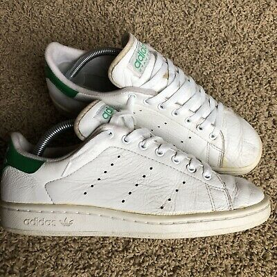 Vintage Men Adidas Stan Smith Originals 90s Leather white green size Men's 8 | eBay
