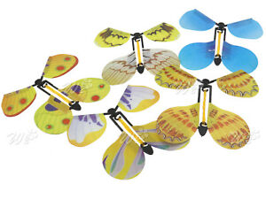 5 Butterfly Paper Flying Fluttering Toy Girls Boy Birthday Gift Party Bag Filler